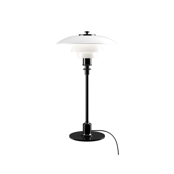 PH 2/1 bordslampa, svart/opal 35,5cm