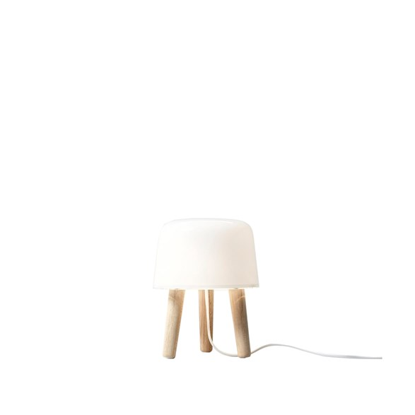 Milk NA1 bordslampa, ask/vit 25cm