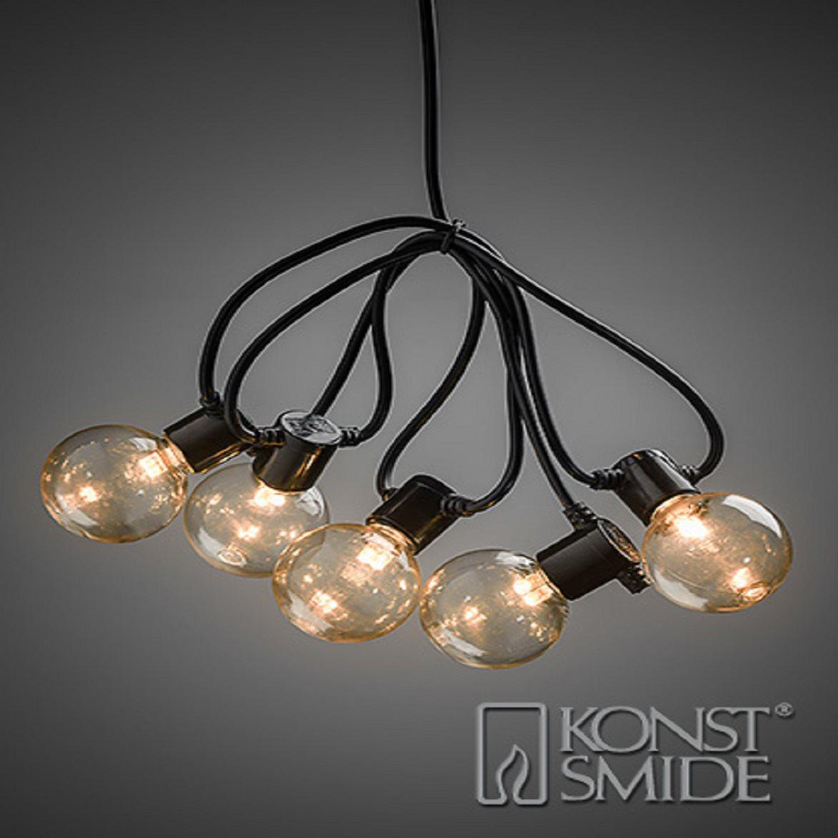 Strålande Ljusslinga LED 20 lampor amber E14, 24V/IP44 - Stockholms bästa MD-08