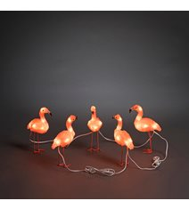 Flamingo LED 5st, akryl