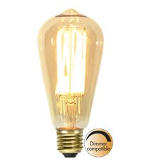 Filament-LED edison 3,7W(22W) E27, vintage gold