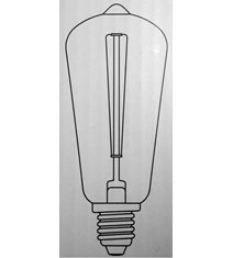 Edison decoration LED 2,5W E14, dimbar