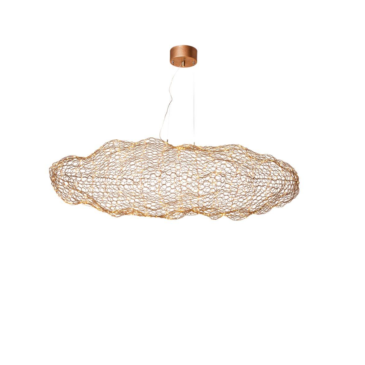 Berömda Hayden LED taklampa, guld 76cm - Stockholms bästa lampaffär SP-05