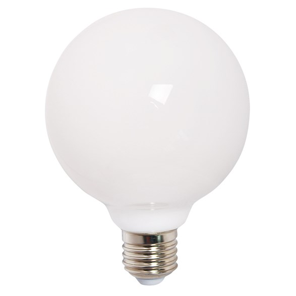 LED-glob 9W(60W) E27, opal 95mm dimbar
