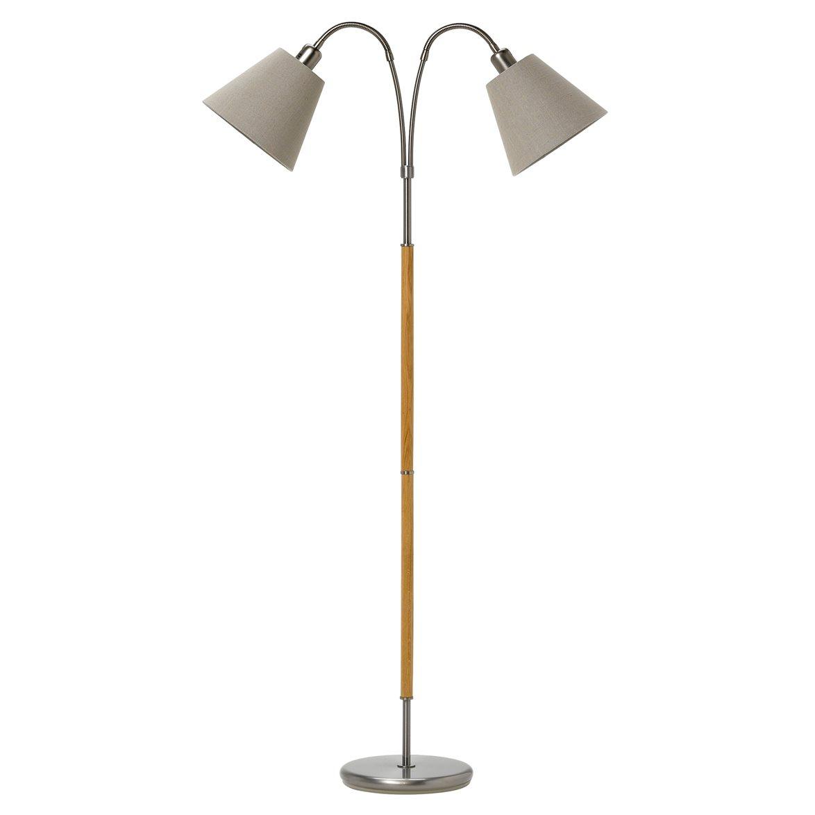 Tullgarn golvlampa tvåarmad, råjärn ek 145cm Stockholms bästa lampaffär