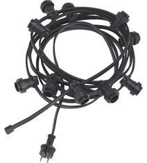 Bright light string 10, svart 7m