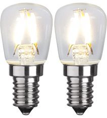 LED-lampa E14 2-pack Clear