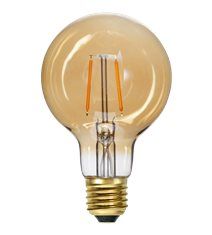LED-lampa E27 G80 Plain Amber