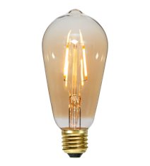 LED-lampa E27 ST64 Plain Amber